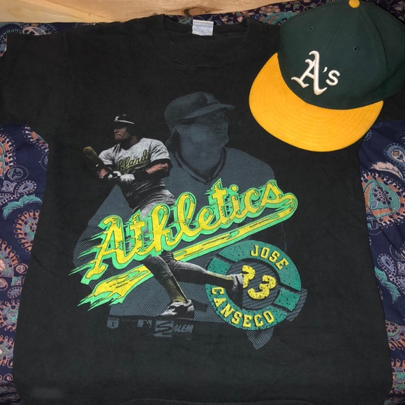 Vintage Other - Vintage 1980s Jose Canseco A's T-shirt. Size S